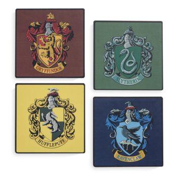Sous verres 4 maisons Harry Potter