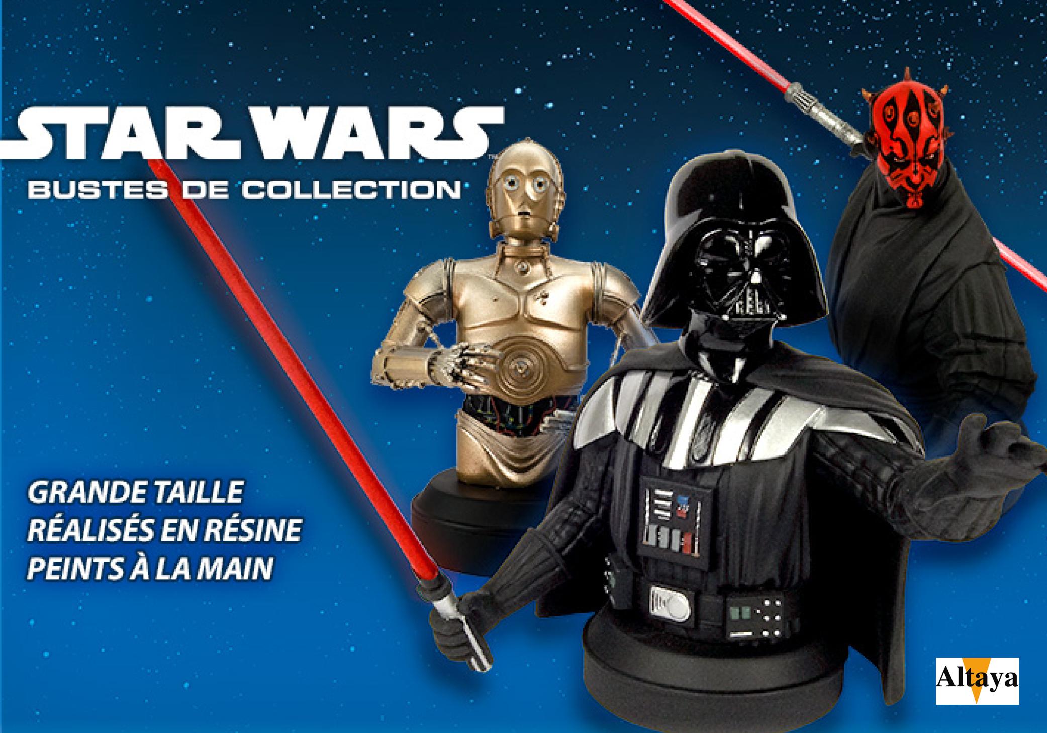 bustes star wars altaya