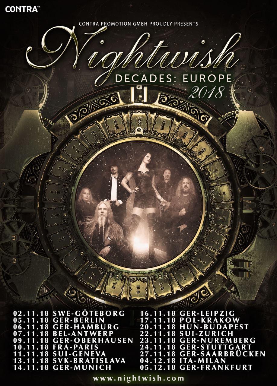 Nightwish Decades Europe 2018