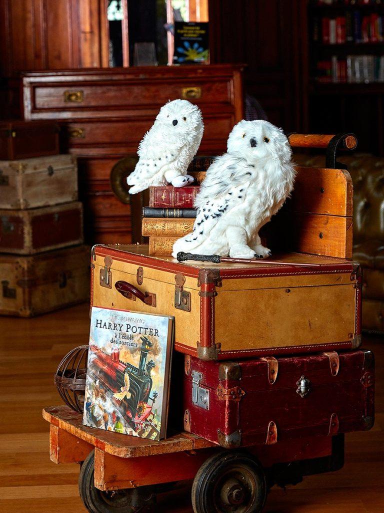 Peluche Hedwige petit et grand format Collection Harry Potter