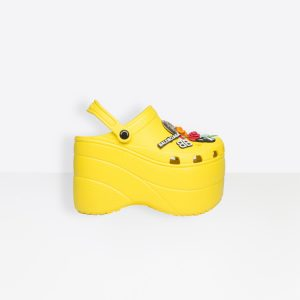 Crocs Plateforme Balenciaga Jaune