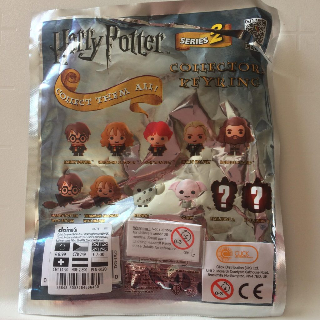 Harry Potter Collectors Keyring Série 2 Back