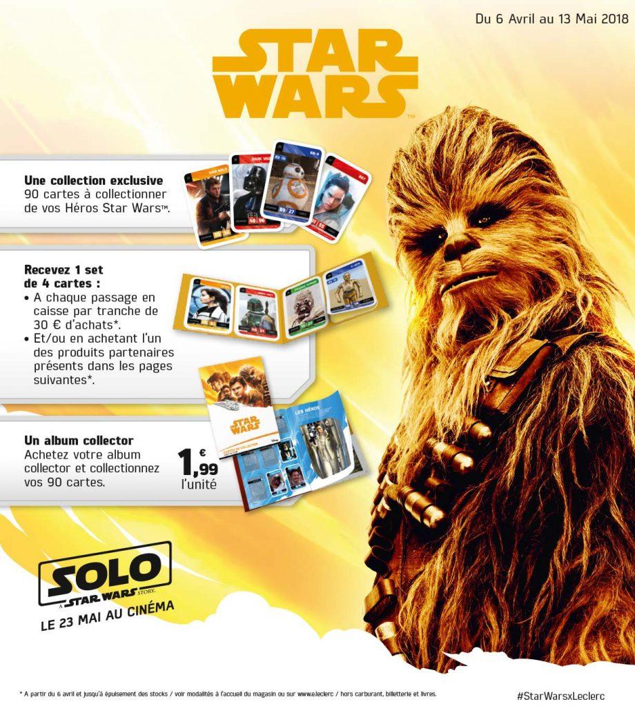 Cartes Star Wars E.Leclerc