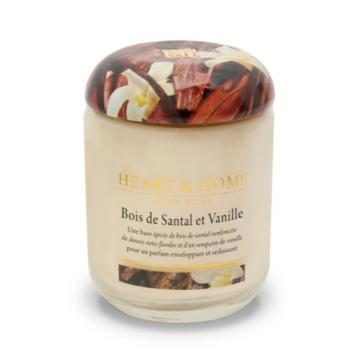 Grande jarre Bois de santal & vanille de chez Heart & Home
