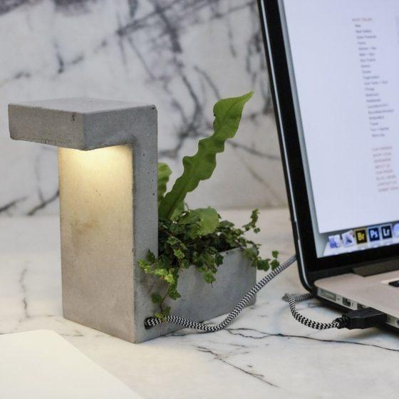 Jardinière lampe de bureau