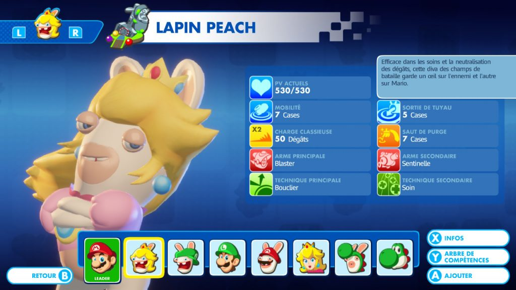 Mario + The Lapins Crétins: Kingdom Battle Nintendo Switch Lapin Peach
