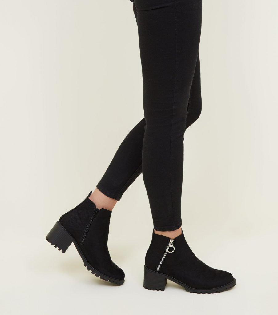 Boots noires New Look Soldes