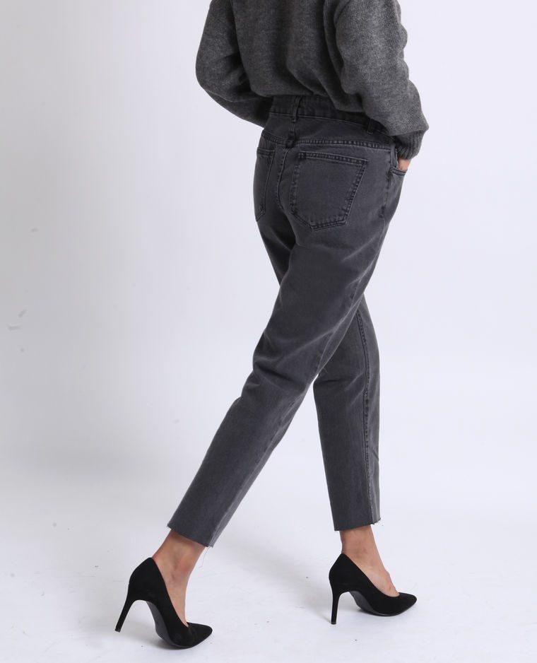 Jean droit pimkie gris noir Soldes