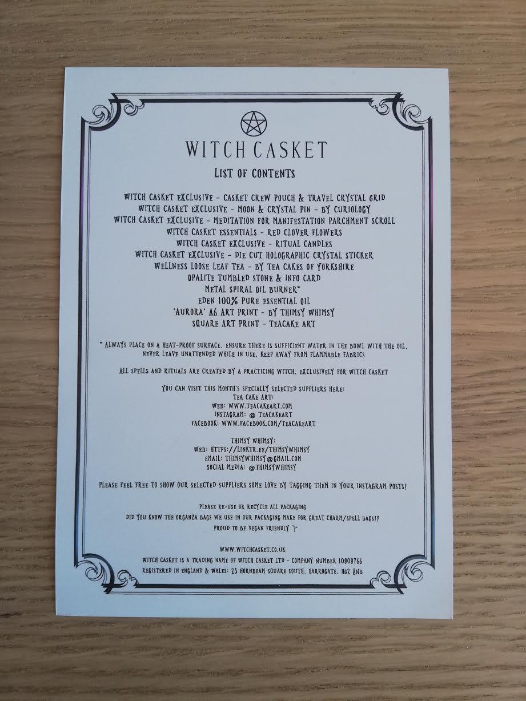 Contenu Witch Casket 02-19
