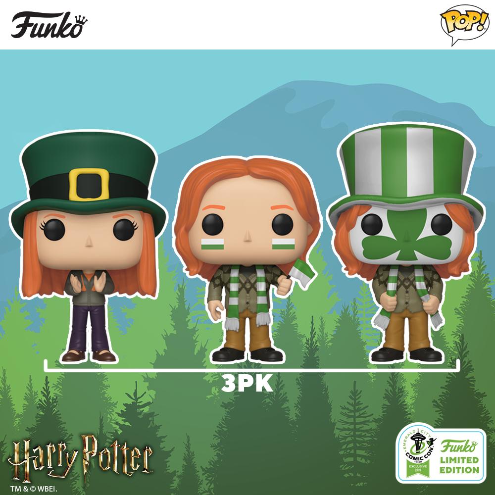 New Pack de 3 figurines Funko Pop HP