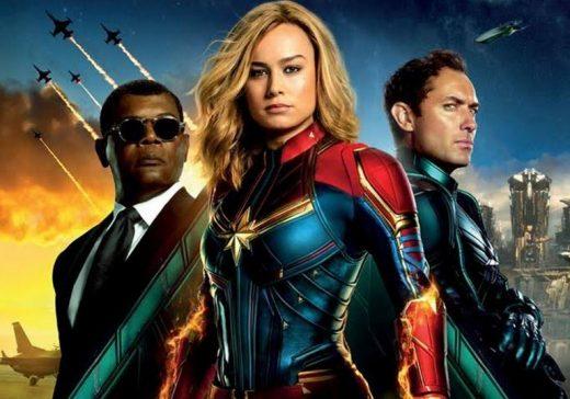 Captrain Marvel Affiche