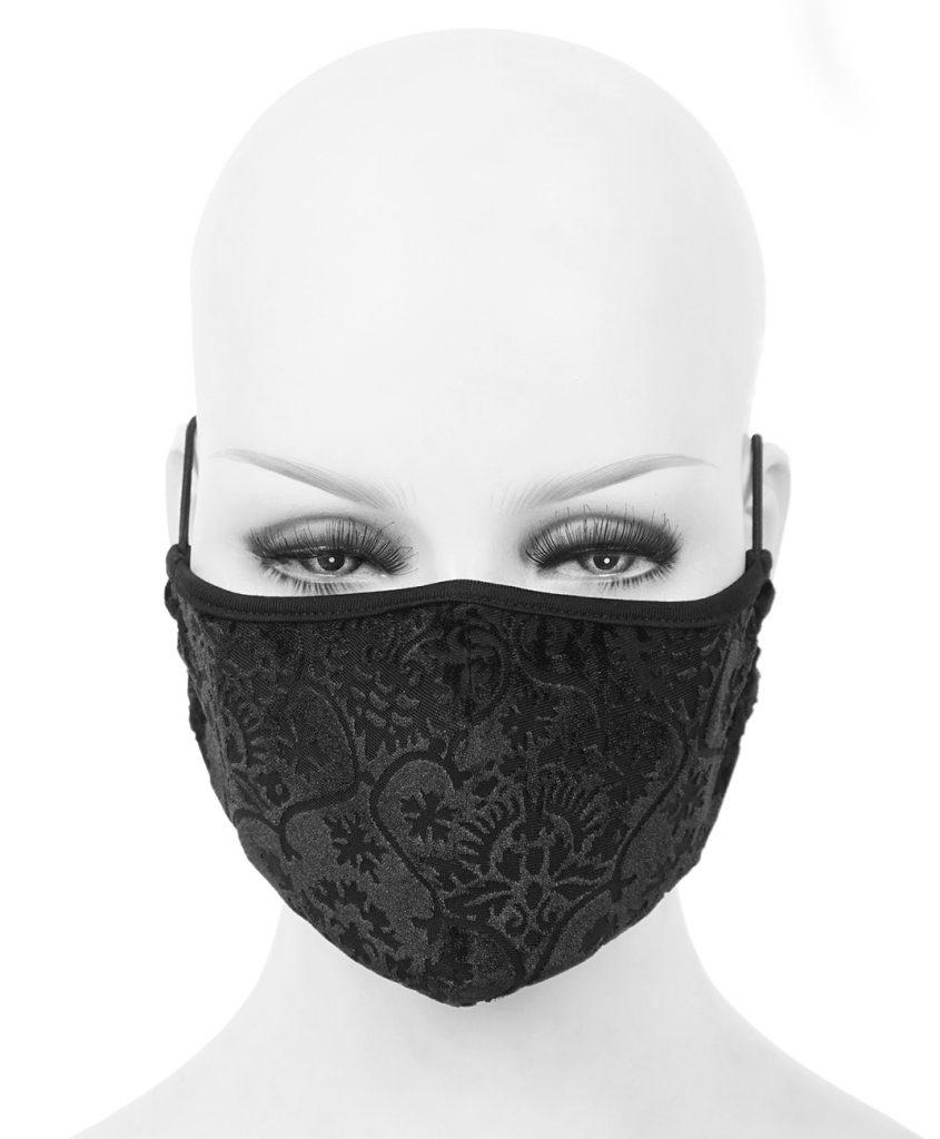 Masque en tissu noir avec motifs élégant baroque mode