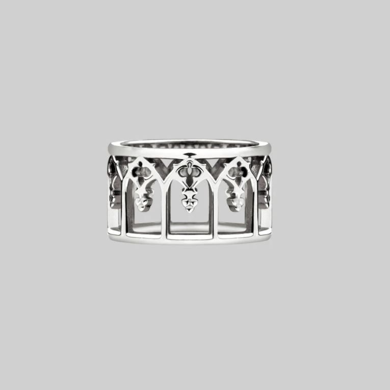 Gothic Arches Ring Silver Regalrose