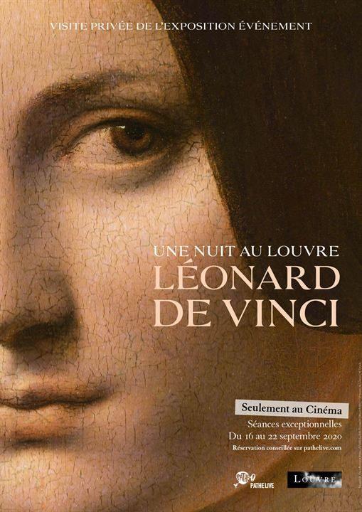 Une nuit au Louvre Léonard de Vinci Affiche