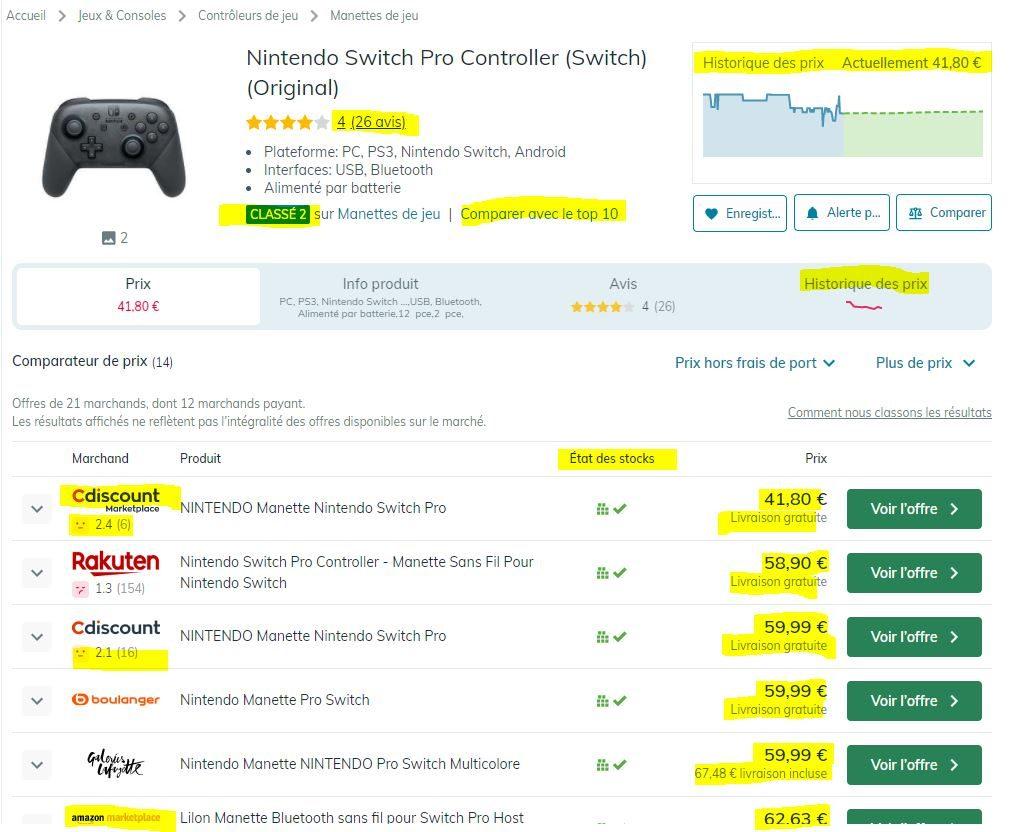 LeDénicheur Recherche Nintendo Controller Witchimimi