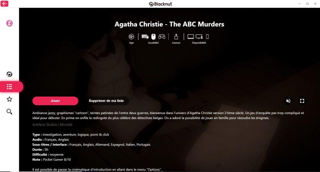 Blacknut Agatha Christie The ABC Murders