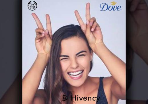 The Body Shop et Dove avec Hivency Message